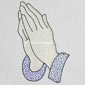 Mylar Praying Hands 4x4