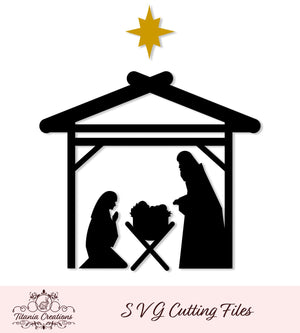 Nativity Scene Svg Vinyl