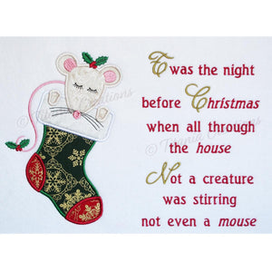 Applique Night Before Christmas 5x7