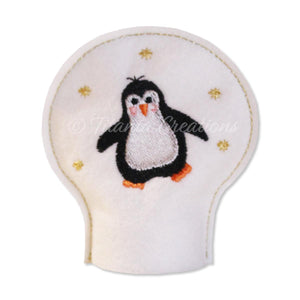 ITH Penguin Tea Light Cover 4x4