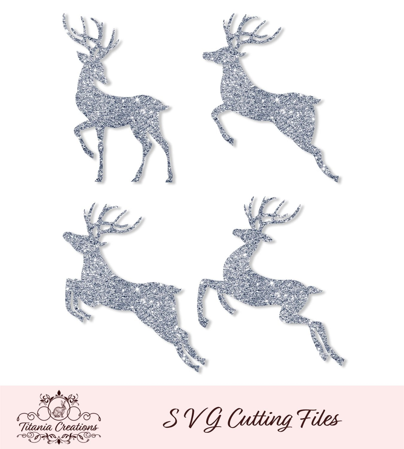 Reindeer Set Of Four Svg Vinyl