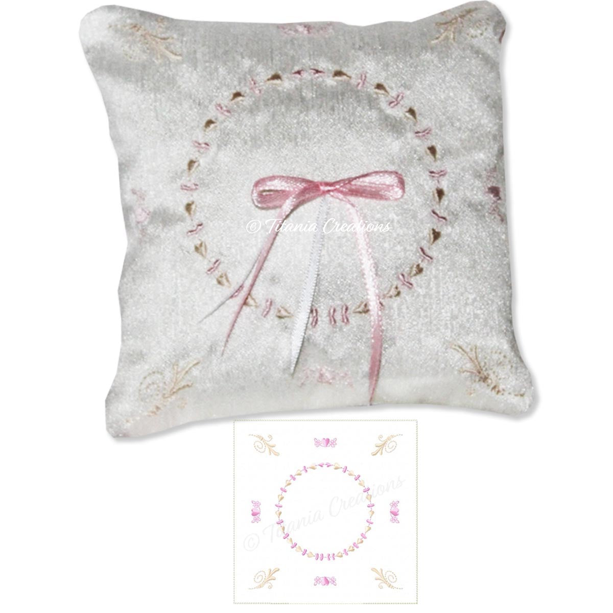 ITH Wedding Ring Cushion 5x5 6x6 8x8