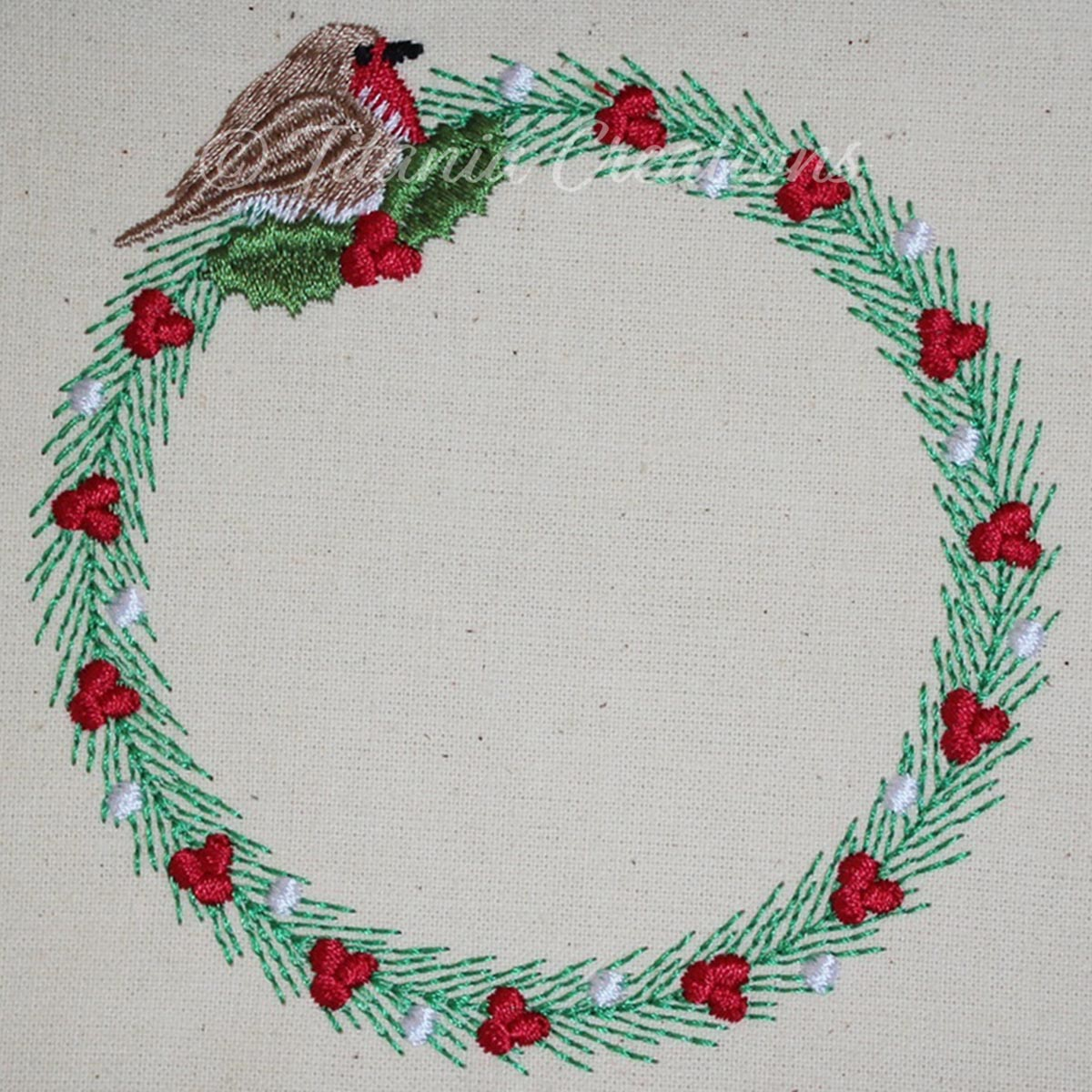 Robin Wreath 4x4 5x7