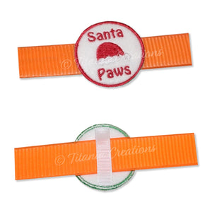 ITH Santa Paws Dog Collar Feltie 2x2