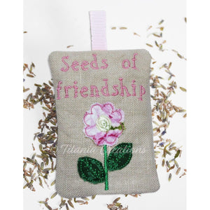 ITH Seeds Of Friendship Lavender Sachet 4x4