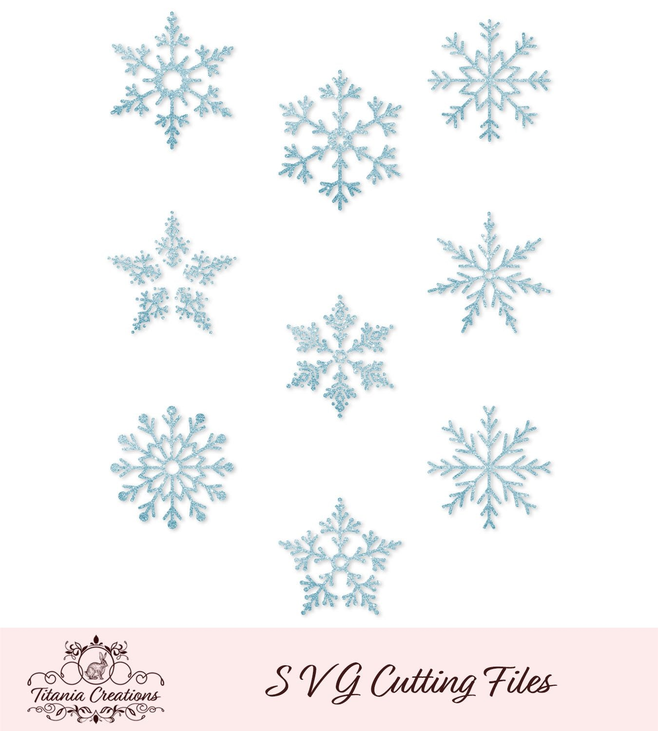 Snowflakes Set Of Nine Svg Vinyl