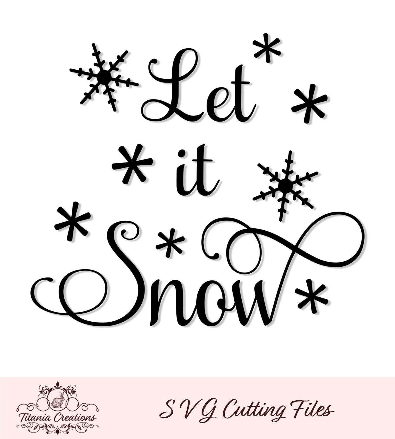 Let It Snow Svg Vinyl