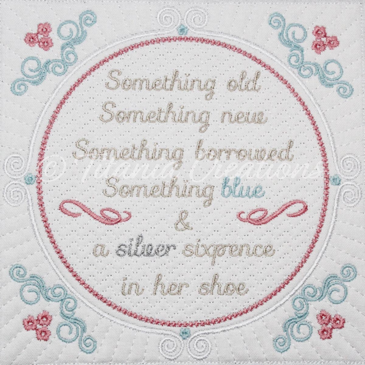 Something Old Something New Quilt Block 8x8