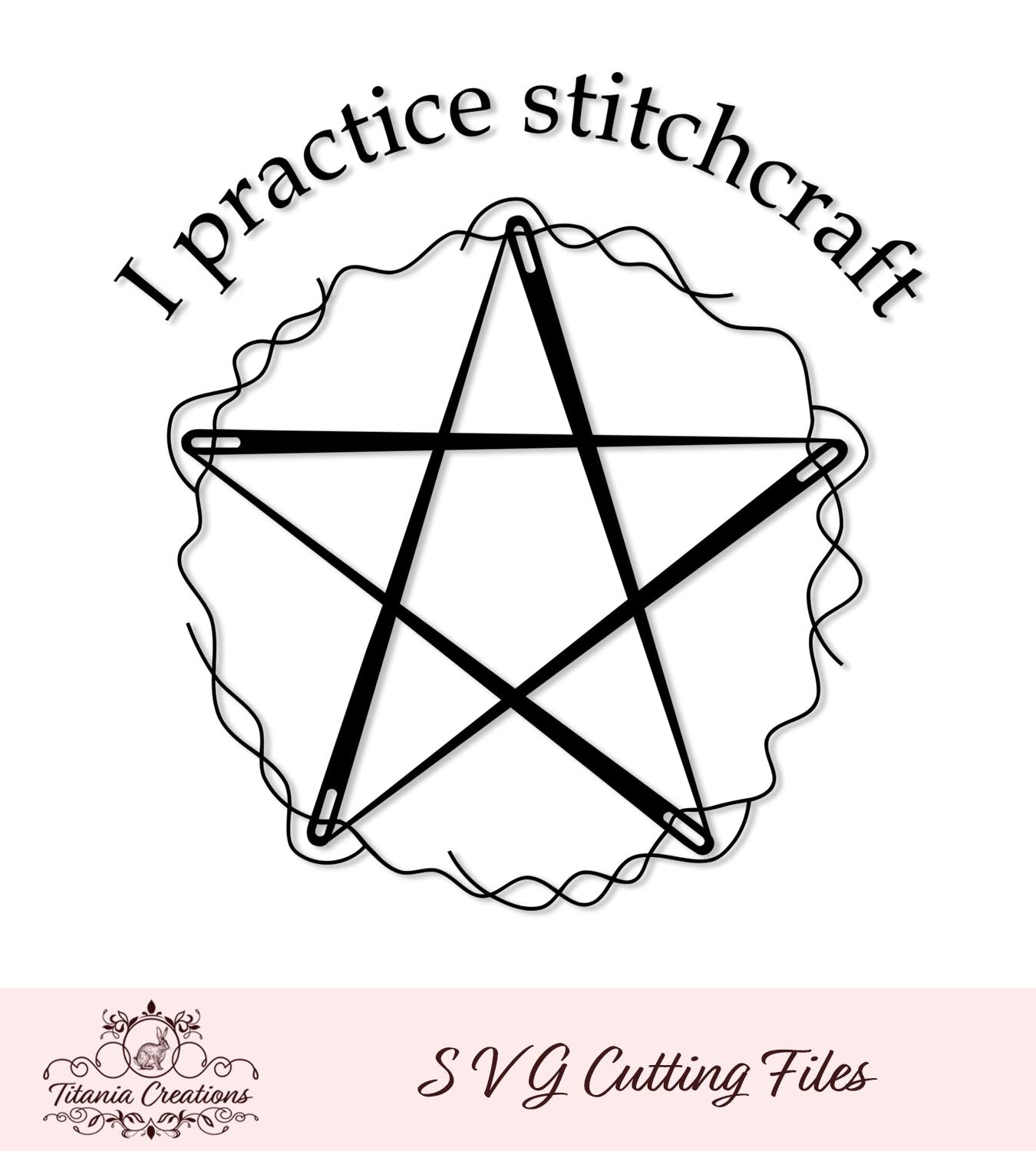 Stitchcraft Sewing Needle Pentacle SVG