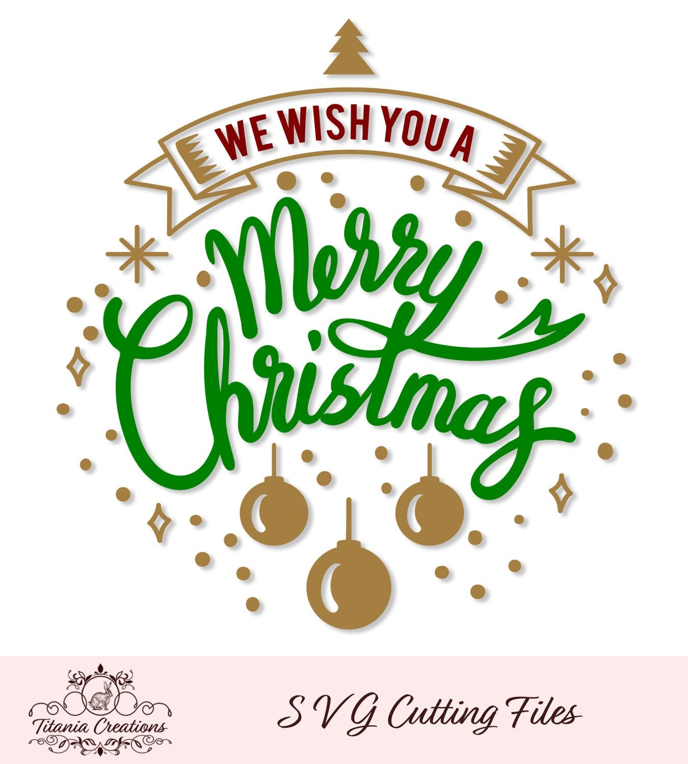 We Wish You A Merry Christmas Svg Vinyl