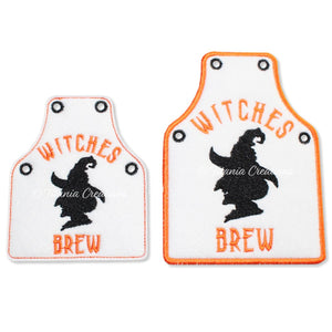 ITH Witches Brew Bottle Apron 4x4 5x7