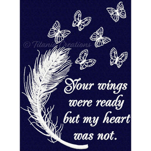 Your Wings Were Ready Feather & Butterflies 5x7