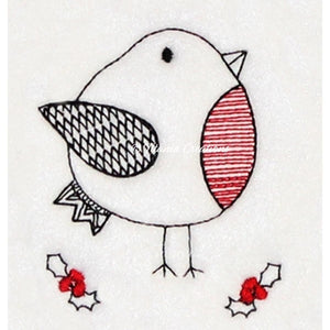 Zen by Adele Collection Christmas Robin 4x4 5x7