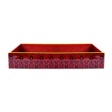 Kashmir Kali Lacquer Finish Tray - Set of 2