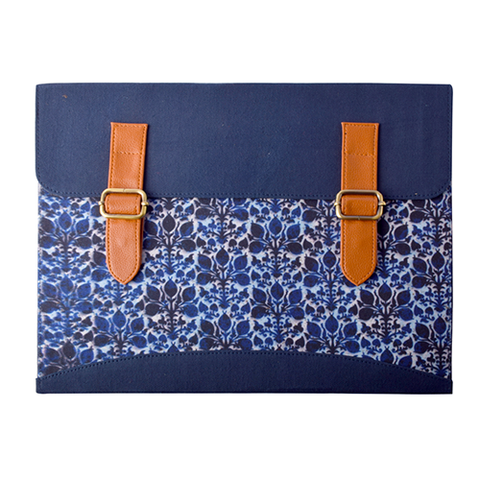 Blue Ikat Document Folder