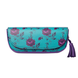 Purple Rose Printed Sunglass Case