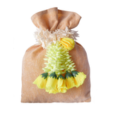 Jute Pouch With Flower Tassel