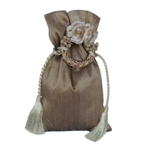 Silk Pouch With Flower Ring and Cord Tie - 1/4 Kilo