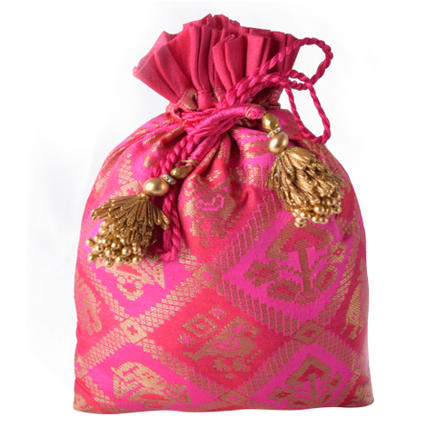 Patola Design Potli Bag