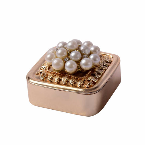 Pearl Broach Metal Coin Gifting Box