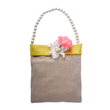Yellow Jute Fabric Bag