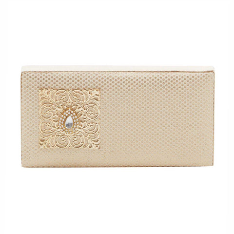 Cream Brocade Cash Box