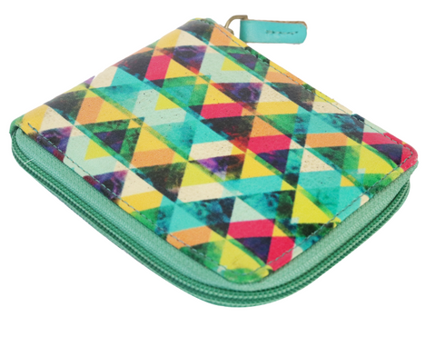 Multi Colour Triangle Compact Wallet
