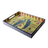 Peacock Gateway Lacquer Finish Tray - Big
