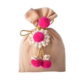 Jute Pouch With Mogra Flower Tie
