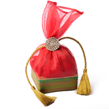 Box Pouch With Cord Tie -Small Square