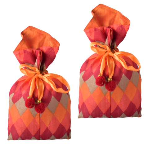 Ikat Print Pouch - Set of 2