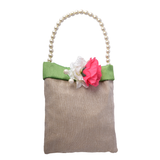 Green Jute Fabric Bag  CHECKED