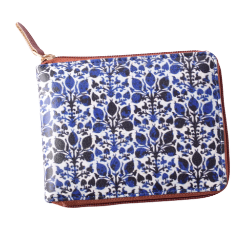Blue Ikat Compact Wallet