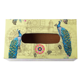 Peacock Gateway Lacquer Finish Tissue Napkin Holder