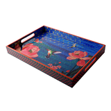 Lotus Waterbed Lacquer Finish Tray - Small