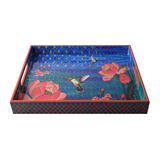 Lotus Waterbed Lacquer Finish Tray - Big