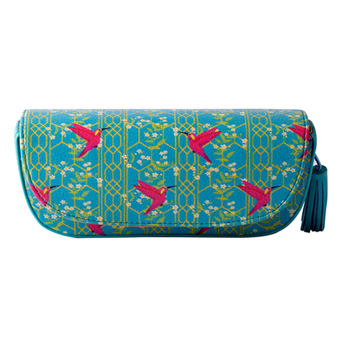 Pink Birds Sunglass Case