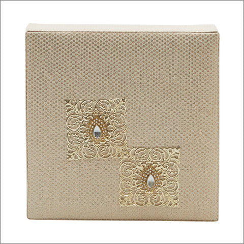 Cream Brocade Jewellery Set Box