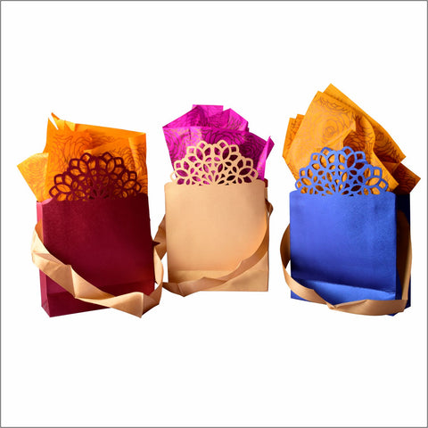 Flower Paper Bags - Big  CHECKED