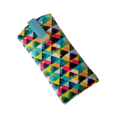 Multi Colour Triangle Flat Sunglass Cover