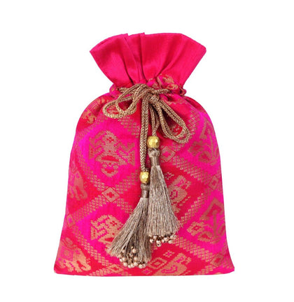 Patola Brocade Potli Bag