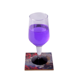 Bougainvillea Lacquer Finish Coaster Set