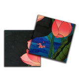 Lotus Waterbed Lacquer Finish Coaster Set