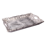 Vintage Look Carved Wooden Tray - Small