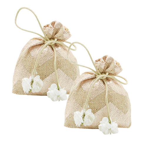 Jute Coin Gifting Pouch - Set of 2