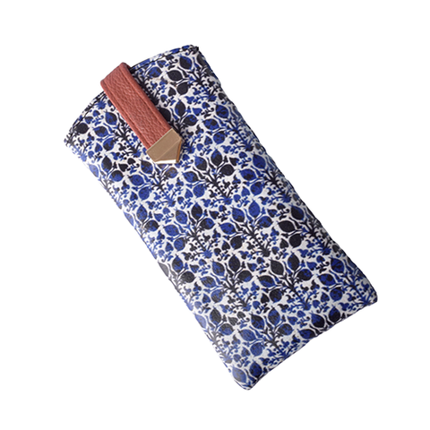 Blue Ikat Flat Sunglass Cover