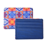 Red Blue Tile Currency/Card Holder