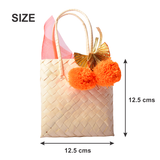 Pom Pom Tassel Cane Bags- Set of 2