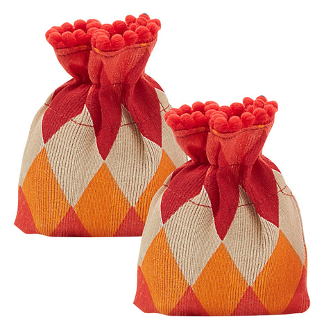 Ikat Print Coin Gifting pouch - Set of 2