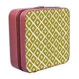 Green Ikat Jewellery Case Square